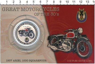 Изображение Подарочные монеты Острова Кука 2 доллара 2007 Серебро Proof Мотоцикл : Ariel 100