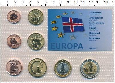 Изображение Наборы монет Исландия Исландия 2004 2004  UNC В наборе 8 монет ном