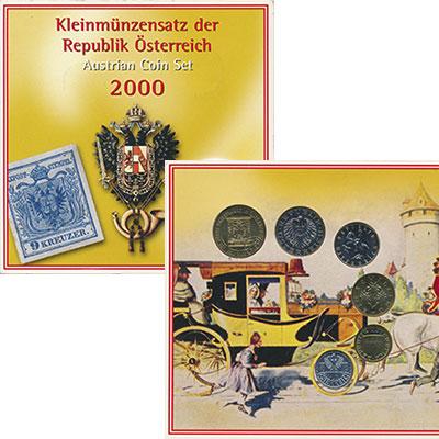Изображение Подарочные монеты Австрия Набор 2000 года 2000  UNC В набор входят пять