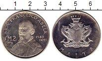 Изображение Монеты Мальта 2 фунта 1974 Серебро Proof-