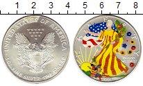 Монета США 1 доллар Серебро 2001 UNC фото