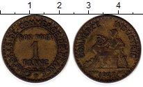 Изображение Монеты Франция 1 франк 1927 Латунь XF