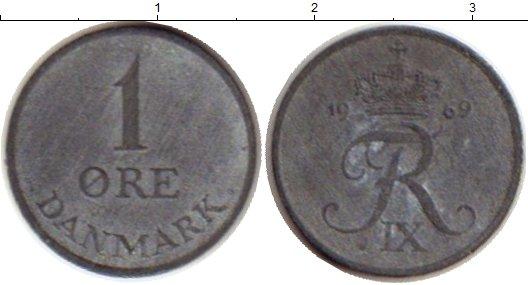 Картинка Монеты Дания 1 эре Цинк 1969