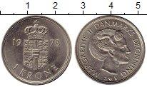 Изображение Монеты Дания 1 крона 1978 Медно-никель XF+