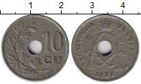 Изображение Монеты Бельгия 10 сантим 1924 Медно-никель XF
