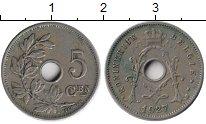 Изображение Монеты Бельгия 5 сантим 1927 Медно-никель XF
