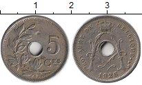 Изображение Монеты Бельгия 5 сантим 1926 Медно-никель XF