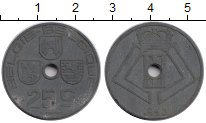 Изображение Монеты Бельгия 25 сантим 1943 Цинк XF-