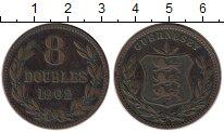 Изображение Монеты Великобритания Гернси 8 дублей 1902 Бронза XF-