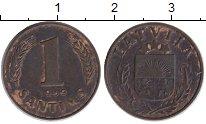 Монета Латвия 1 сантим Бронза 1939 XF- фото