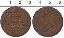 Изображение Монеты Австралия 1 пенни 1927 Бронза XF-