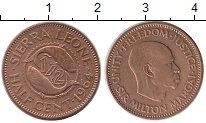 Изображение Монеты Сьерра-Леоне 1/2 цента 1964 Бронза XF+