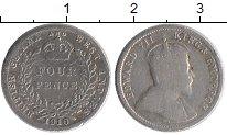 Изображение Монеты Великобритания Британская Гвиана 4 пенса 1910 Серебро VF