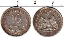 Изображение Монеты Мексика 10 сентаво 1889 Серебро XF