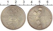 Изображение Монеты Португалия 100 эскудо 1976 Серебро UNC-