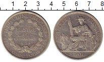 Изображение Монеты Франция Индокитай 1 пиастр 1907 Серебро XF
