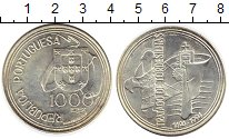 Монета Португалия 1000 эскудо Серебро 1994 UNC- фото