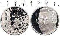 Монета Бельгия 20 евро Серебро 1996 Proof фото