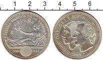 Монета Испания 2000 песет Серебро 2001 UNC фото