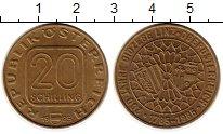 Изображение Монеты Австрия 20 шиллингов 1985 Латунь UNC-