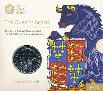 Изображение Подарочные монеты Великобритания 5 фунтов 2018 Медно-никель UNC Елизавета II.  4-ая