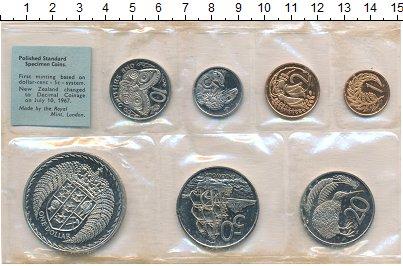 Изображение Подарочные монеты Новая Зеландия Новая Зеландия 1967 1967  UNC- В наборе 7 монет ном