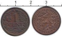 Изображение Монеты Нидерланды 1 цент 1914 Медь XF