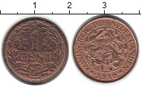 Изображение Монеты Нидерланды 1 цент 1918 Медь XF