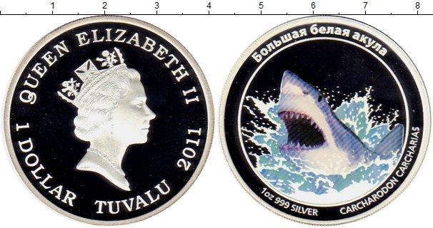 Картинка Подарочные монеты Тувалу 1 доллар Серебро 2011