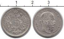 Изображение Монеты Австрия 10 крейцеров 1872 Серебро XF+