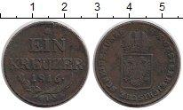 Изображение Монеты Австрия 1 крейцер 1816 Медь XF-