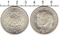 Изображение Монеты Германия Анхальт-Дессау 3 марки 1914 Серебро UNC-
