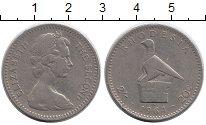 Изображение Монеты Великобритания Родезия 20 центов 1964 Медно-никель XF-