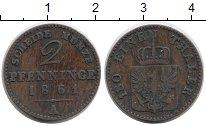Изображение Монеты Германия Пруссия 2 пфеннига 1861 Медь XF