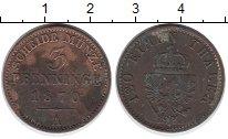 Изображение Монеты Германия Пруссия 3 пфеннига 1870 Медь XF-
