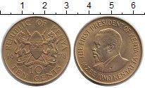 Изображение Монеты Кения 10 центов 1978 Латунь UNC-