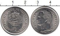 Изображение Монеты Венесуэла 1 боливар 1990 Медно-никель UNC-