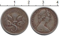 Изображение Монеты Австралия 5 центов 1973 Медно-никель VF