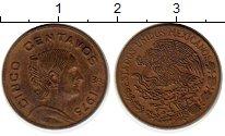 Изображение Монеты Мексика 5 сентаво 1975 Латунь XF