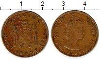 Изображение Монеты Ямайка 1/2 пенни 1965 Латунь XF