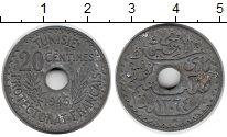 Изображение Монеты Тунис 20 сантим 1945 Цинк XF-