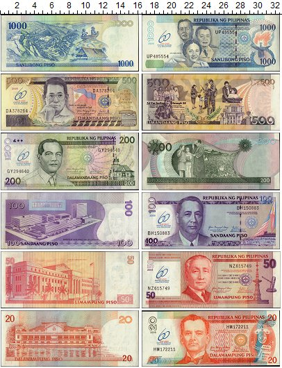 Изображение Банкноты Филиппины Набор из 6 бон 2009  UNC