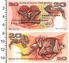 Изображение Банкноты Папуа-Новая Гвинея 20 кин 1998  UNC