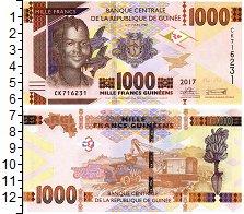 Изображение Банкноты Гвинея 1.000 франков 2017  UNC Портрет девушки. На