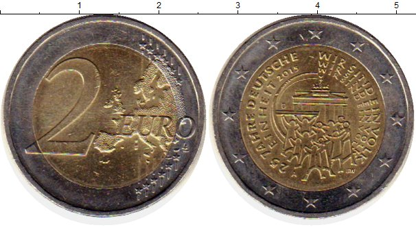 Картинка Монеты Германия 2 евро Биметалл 2015