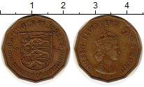 Изображение Монеты Великобритания Остров Джерси 1/4 шиллинга 1964 Латунь XF