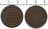 Изображение Монеты Тунис 5 сантим 1914 Бронза XF-