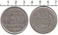Изображение Монеты Тунис 20 франков 1934 Серебро XF