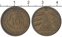 Изображение Монеты Германия Веймарская республика 10 пфеннигов 1926 Латунь XF