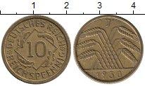 Изображение Монеты Веймарская республика 10 пфеннигов 1930 Латунь XF
